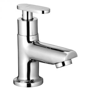 Oleanna Metro Brass Pillar Cock Silver Taps & Faucets