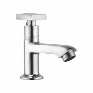 Oleanna Melody Brass Pillar Cock Silver Taps & Faucets
