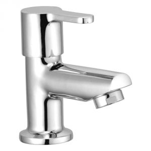 Oleanna Orange Brass Pillar Cock Silver Taps & Faucets
