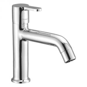 Oleanna Orange Brass Pillar Cock High Neck Silver Taps & Faucets