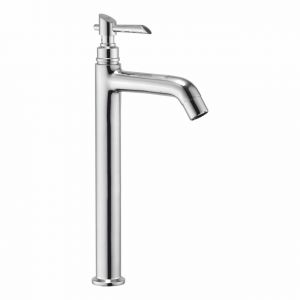 "Oleanna Fancy Brass Pillar Cock Tall Body 12"" Long Silver Taps & Faucets"