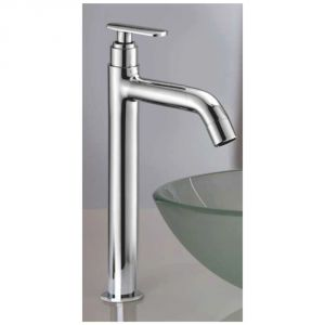 "Oleanna Speed Brass Pillar Cock Tall Body 12"" Long Silver Taps & Faucets"