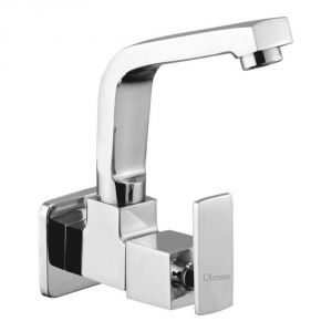 Oleanna Kubix Brass Sink Cock Silver Taps & Faucets