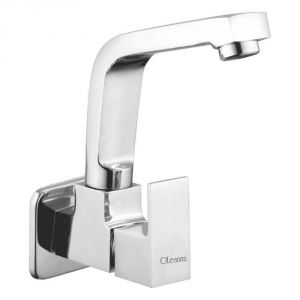 Oleanna Square Brass Sink Cock Silver Taps & Faucets