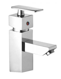 Oleanna Kubix Brass Single Lever Basin Mixer Silver Water Mixer