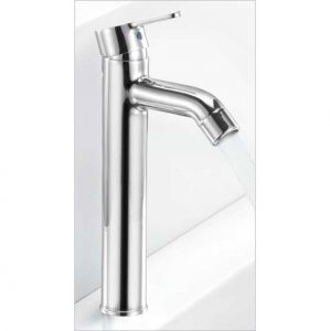 "Oleanna Orange Brass Single Lever Basin Mixer Tall Body12"" Silver Water Mixer"
