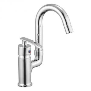 Oleanna Desire Brass Single Lever Sink Mixer Table Mounted Silver Water Mixer