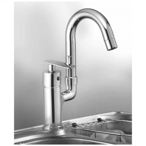 Oleanna Speed Brass Single Lever Sink Mixer Table Mounted Silver Water Mixer