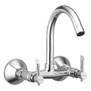 Oleanna Fancy Brass Sink Mixer Silver Water Mixer