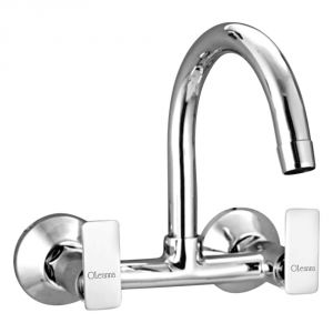 Oleanna Golf Brass Sink Mixer Silver Water Mixer
