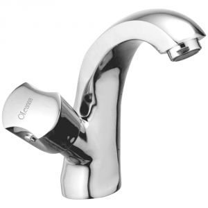 Oleanna Classic Brass Swan Neck Silver Water Mixer