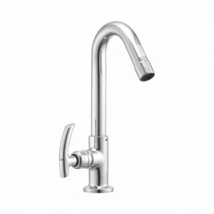 Oleanna Citizen Brass Swan Neck Silver Water Mixer