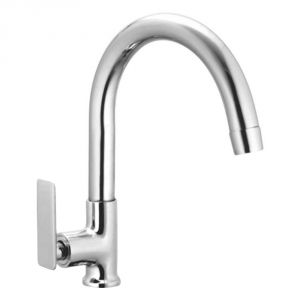 Oleanna Golf Brass Swan Neck Silver Water Mixer