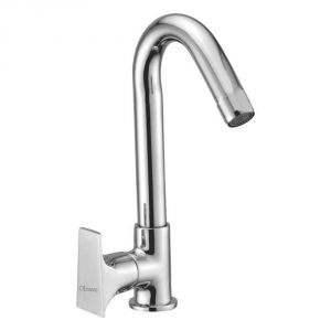 Oleanna Global Brass Swan Neck Silver Water Mixer