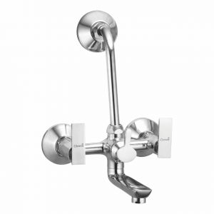 Oleanna Golf Brass Wall Mixer Telephonic With L-bend Silver Water Mixer