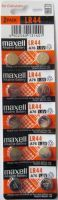 Maxell Button Alkaline Batteries Lr44