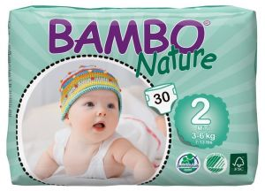 Diapers - Bambo Nature Mini 3-6 kg, 30 Count, Size 2