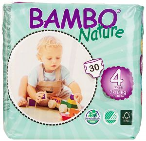 Bambo Nature Maxi 7-18 Kg , 30 Count, Size 4