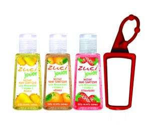 Zuci 30 Ml Mango, Orange , Strawberry Hand Sanitizer With Bagtag
