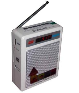 Sony Electronics - Sonilex Sl-413/414 Portable FM Radio With Usb/sd Music Player