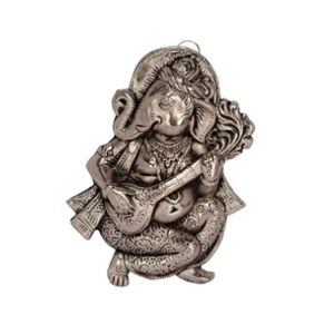 Mariyam Wall Hanging Ganesha Playing Veena Showpiece