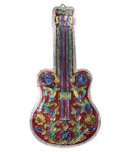 Mariyam Antique Guitar Design With Meenakari Work Key Holder Handicraft Gift Item