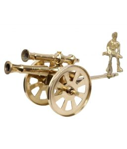 Mariyam Brass Handmade Antique Cannon Showpiece