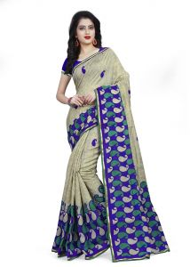 Kotton Mantra Grey Cotton Printed Designer & Party Wear Saree With Blouse Piece (kmsq5014)
