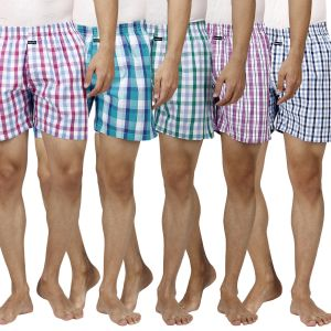Vests, Briefs, Pyjamas (Men's) - Boxers Pack Of 5 Assorted Colors By Inspire