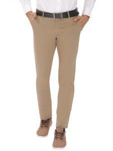 Trousers (Men's) - Inspire Dark Beige Slim Casual Chinos