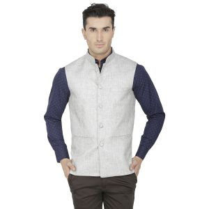 Jackets - Inspire Grey Linen Modi Jacket