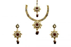 La Trendz Double Star Multicolour Pearl Women Necklace Set( Cprs6mg)