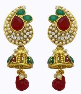 La Trendz Gold Plated Traditional Jhumki Earring(lt2027)