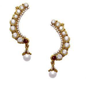 La Trendz Daimond Finish Gold Plating Women Ear Cuffs(lt2036)