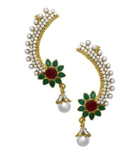 La Trendz Fashion Pearl And Diamond Ear Cuff (lt2038)