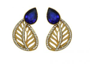 La Trendz Royal Blue Stud Women Earring For Women(lt2045)