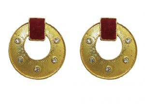 La Trendz Ruby Pota Earring For Women(lt2053)