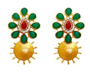 La Trendz Fashion New Stylish Ruby Green Stud Earrings(lt2084)