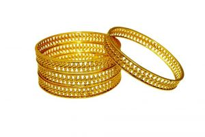 La Trendz Wedding Wear Metal Design Ethnic Copper Bangles For Women(lt2441)