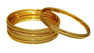 La Trendz Ethnic Wedding Wear Metal Design Bangles For Women(lt2450)