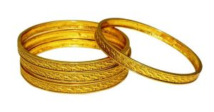 La Trendz Royal Wedding Wear Metal Design Bangles For Women(lt2451)