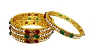 La Trendz Ict With Multicolour Wedding Wear Ruby Bangles For Women(lt2458)