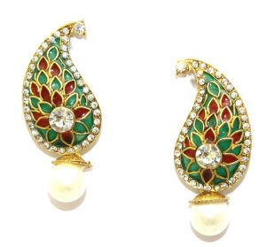 La Trendz Golden Alloy Drop Earrings(lt1085)