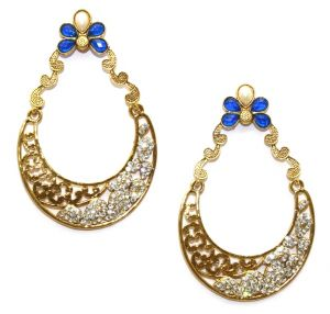 La Trendz Multicolor Bridal Hanging Earrings(lt2016)