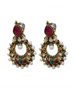 La Trendz Gold Plated Fashionable Hanging Earring(967)
