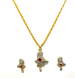 La Trendz Ruby Cz Pendent Set For Women(ltad004)