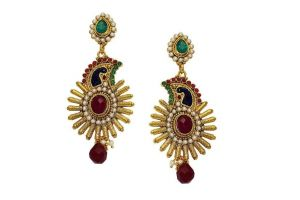 La Trendz Multicolour Designer Dangle Earring Combo Set Of 3