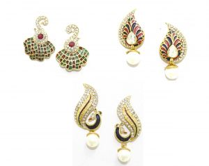 La Trendz Stud Earring Combo Set Of 3