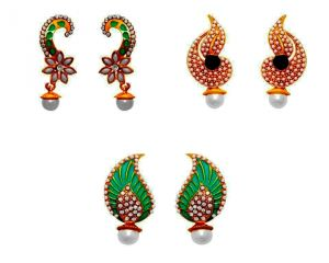 La Trendz Unique Design Earring Combo Set Of 3