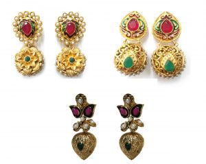La Trendz Fashionable Earring Combo Set Of 3